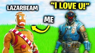 I Pretended To Be LazarBeam In Fortnite