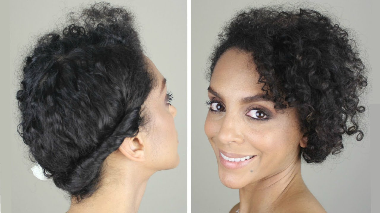 HOW TO: CASUAL UPDO ON FINE, CURLY HAIR