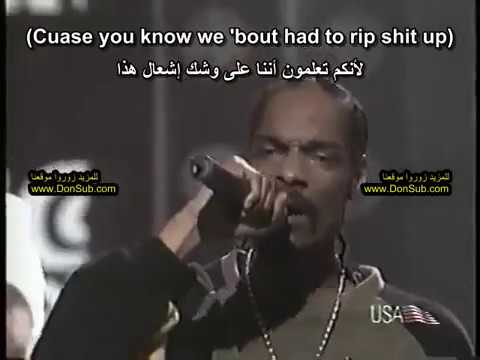 Dr. Dre ft. Snoop Dogg - Nuthin' but a G Thang (مترجم عربي) Live [donsub.com]