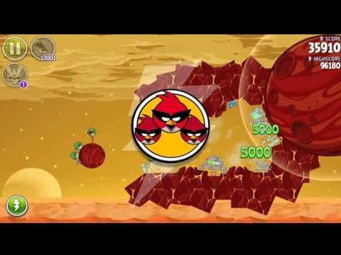 Angry Birds Space HD Red Planet All levels