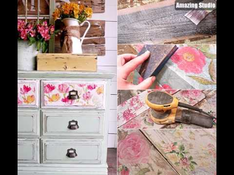 coole bastelideen fr hling f r decoupage von m beln serviettentechnik ideen youtube. Black Bedroom Furniture Sets. Home Design Ideas