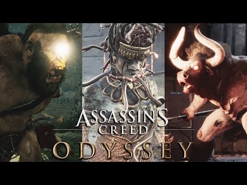 ASSASSIN'S CREED ODYSSEY All Atlantis Boss Fights & Artifacts (Minotaur, Cyclops, Medusa, Sphinx) thumbnail