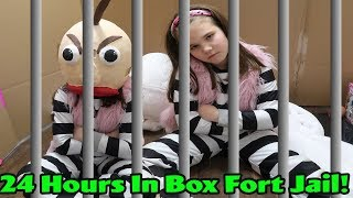 24 Hours In Box Fort Jail! I Ate All The Easter Candy!