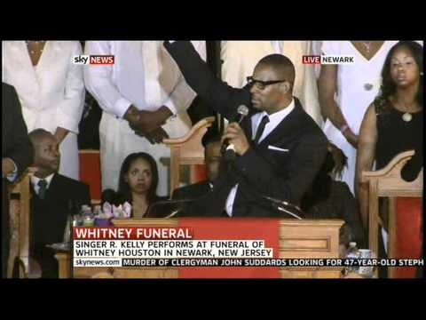 "R Kelly - I Look To You / ""Whitney Houston Funeral"""