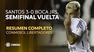 Libertadores   Santos 3-0 Boca Juniors   HIGHLIGHTS COMPLETO