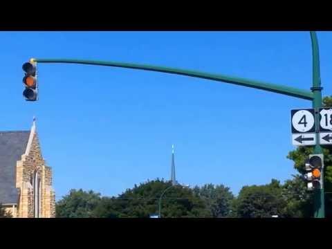 Traffic lights in Emmetsburg, Iowa