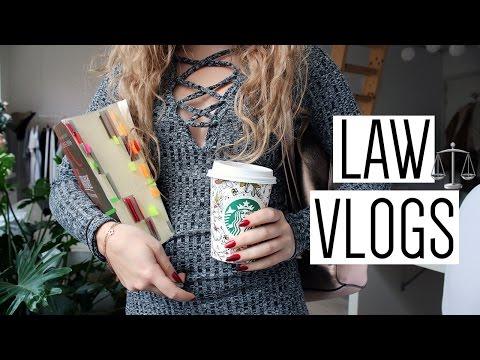 LAW SCHOOL VLOG #1 | European Law Lectures, Bagels & Blogging