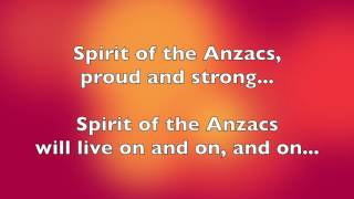 Spirit of the Anzacs [lyrics]