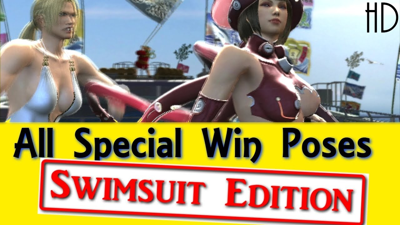 All Special Win Poses Swimsuit Edition HD Tekken Tag Tournament 2