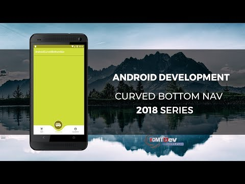 Android Studio Tutorial - Curved Bottom Navigation View With Animation And Event