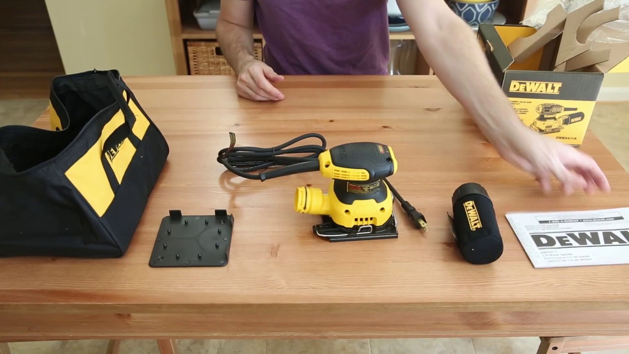 2.3 Amp 1//4 Sheet Palm Grip Sander Kit With Contractor Bag