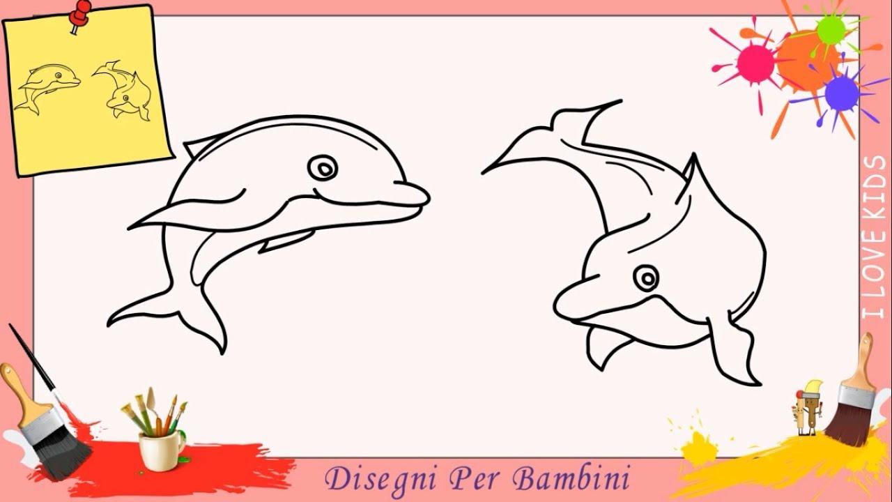 Disegni di delfini facili per bambini come disegnare un for Disegni facili per bambini