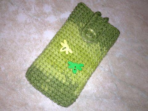Как связать чехол для телефона.Crochet phone case.Вязаные чехлы+крючком.Чехол на телефон крючком