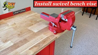 How to install Swivel Vise to workbench - DIY