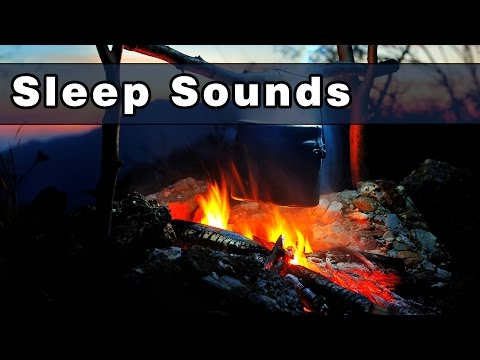 Calming Camp Fire Sounds To Fall Asleep To, Sound of Crickets, Tree Frog Sounds At Night, 10 Hours