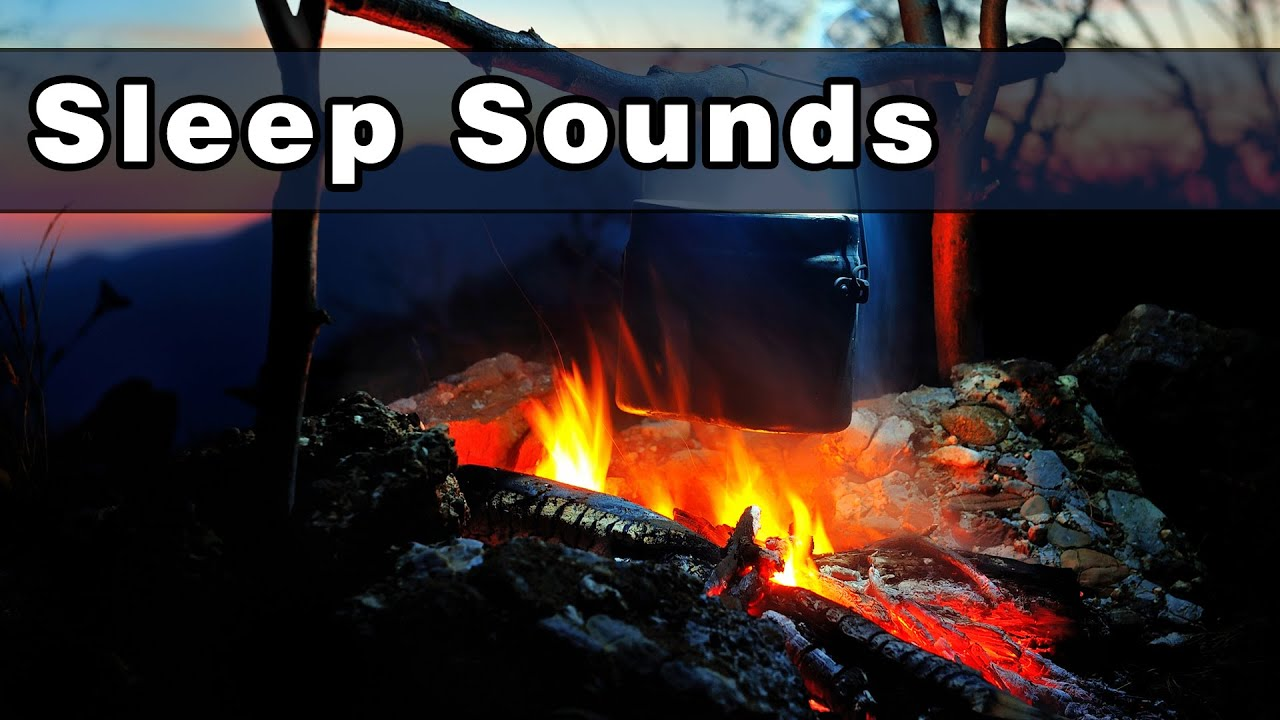 Calming Camp Fire Sounds To Fall Asleep To, Sound of Crickets ...