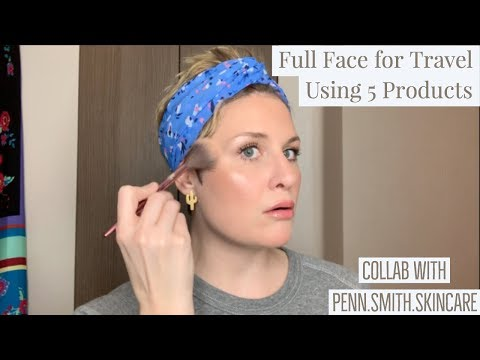 Full Face for Travel Using 5 Products. With a Pinot Noir | Collab w/ Penn.Smith.Skincare