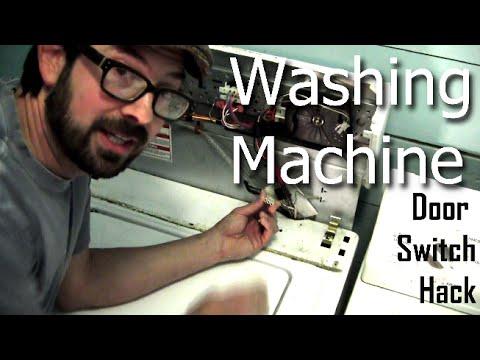 Washing Machine Door Switch Bypass - YouTube