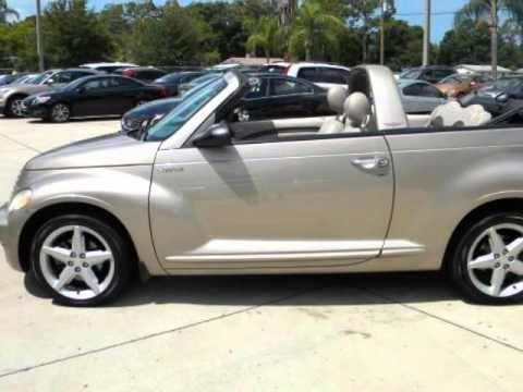 2005 chrysler pt cruiser 2dr convertible gt 1 owner youtube. Black Bedroom Furniture Sets. Home Design Ideas