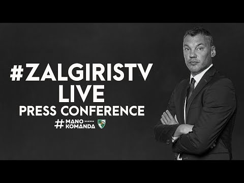 EuroLeague: Žalgiris Kaunas – Anadolu Efes Istanbul press conference