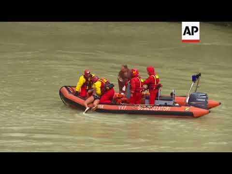Four make annual Near Year's Day dive off bridge into Tiber