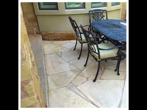 Limestone Patio Cleaning In Barton Creek Area Of Austin Texas   CenTex Nice  U0026 Clean
