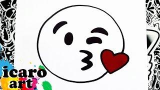 como dibujar un emoji coqueto | how to draw emojis | como desenhar emojis