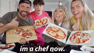 I tried to make my own vegan pizza from scratch.. TRIED!!😂 *Baking with the Barkers*
