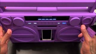 iHome Bluetooth Portable Stereo Boombox with USB Charging