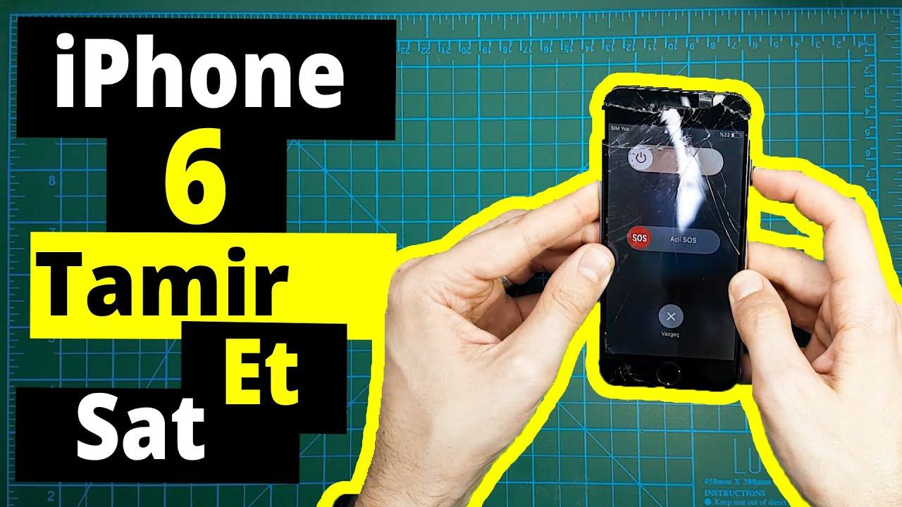 ARABAYLA YANLAMA YAPARKEN SUNROOFTAN DÜŞMÜŞ | iPhone 6 Tamir Et Sat