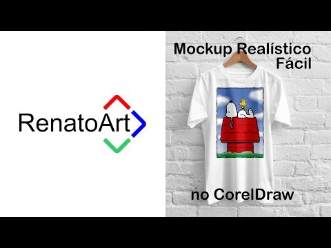 Como montar um Mockup de Camiseta Realístico no CorelDraw.