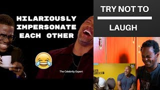 Dwayne Johnson and Kevin Hart Hilariously Impersonate Each Other Try Not To Laugh!