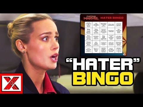 "Brie Larson & Captain Marvel ""Hater"" Bingo, The SJWs Are Self-Aware?"