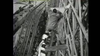 """""""Abbott & Costello in Hollywood"""" movie clip :: Cyclone Racer roller coaster scene, ©1945"""