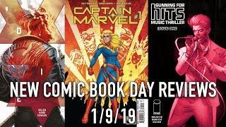 New Comic Book Day Reviews 1/9/19 - Captain Marvel, Batman,