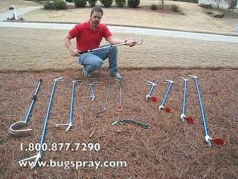 Snake Hooks for handling snakes.