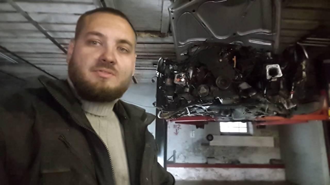 Снимаем мотор 1.8 бензин на  AUDI A4 B5 кузове