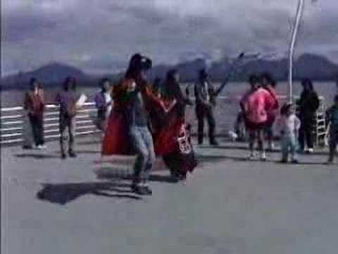 Tlingits Practice Dancing on the Ferry, Alaska