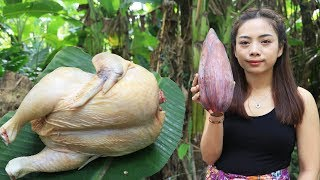 Yummy cooking chicken with banana flower recipe  Cooking skill