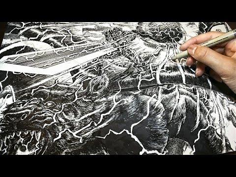 Berserk-Drawing a Manga Page [#9]