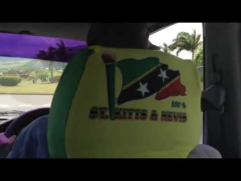 SAINT KITTS & NEVIS, Caribbean country. going to the airport,