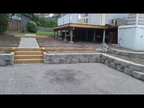 Retaining Walls, Sidewalks, Steps - Mobile Home Renovation : E020 / BC Renovation Magazine