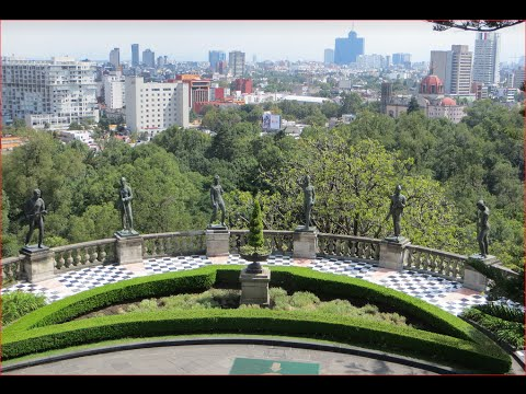 Visiting Chapultepec Castle, Imperial residence in Mexico City, Mexico
