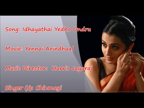 Idhayathai Yedho Ondru FEMALE - Yennai Arindhaal Karaoke tamil song with Lyric | HQ HD |