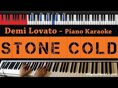 Demi Lovato - Stone Cold - HIGHER Key (Piano Karaoke / Sing Along)