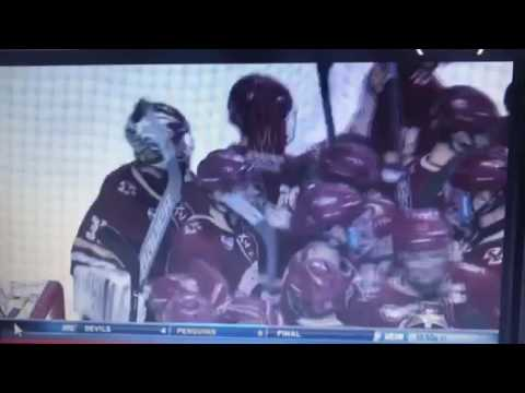 BC-BU 2017 Hockey East Semifinal: Final Seconds and Postgame Brawl