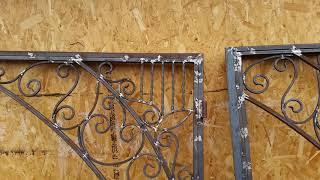 як зробити ворота з профнастилу з елементами