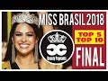MISS BRASIL  2018 - Top  5 Final