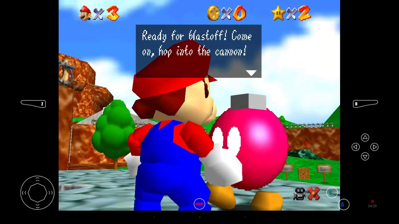 Super Mario 64 Emulator FUN! (Feat  PS4 Controller)