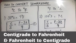 HOW TO CONVERT CELSIUS (CENTIGRADE) TO FAHRENHEIT AND FAHRENHEIT TO CELSIUS (CENTIGRADE)